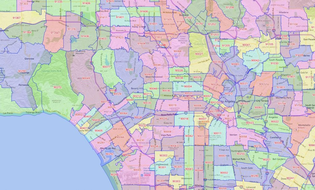 Los Angeles median home prices by zip code